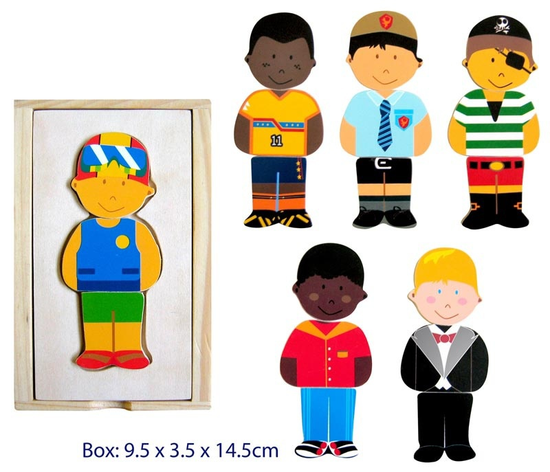 Wooden Dress Up Time (Boy) Puzzle