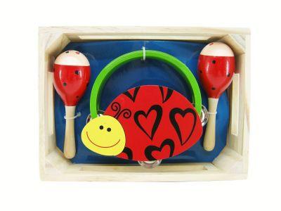 ladybird maraca & tambourine set