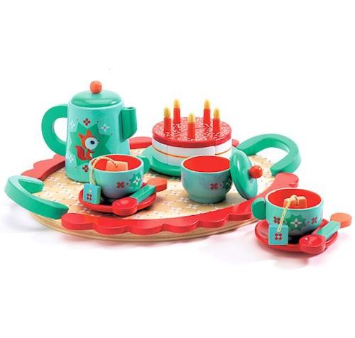djeco fox's wooden tea party