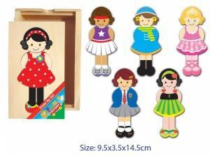 Wooden Dress Up Time (Girl) Puzzle