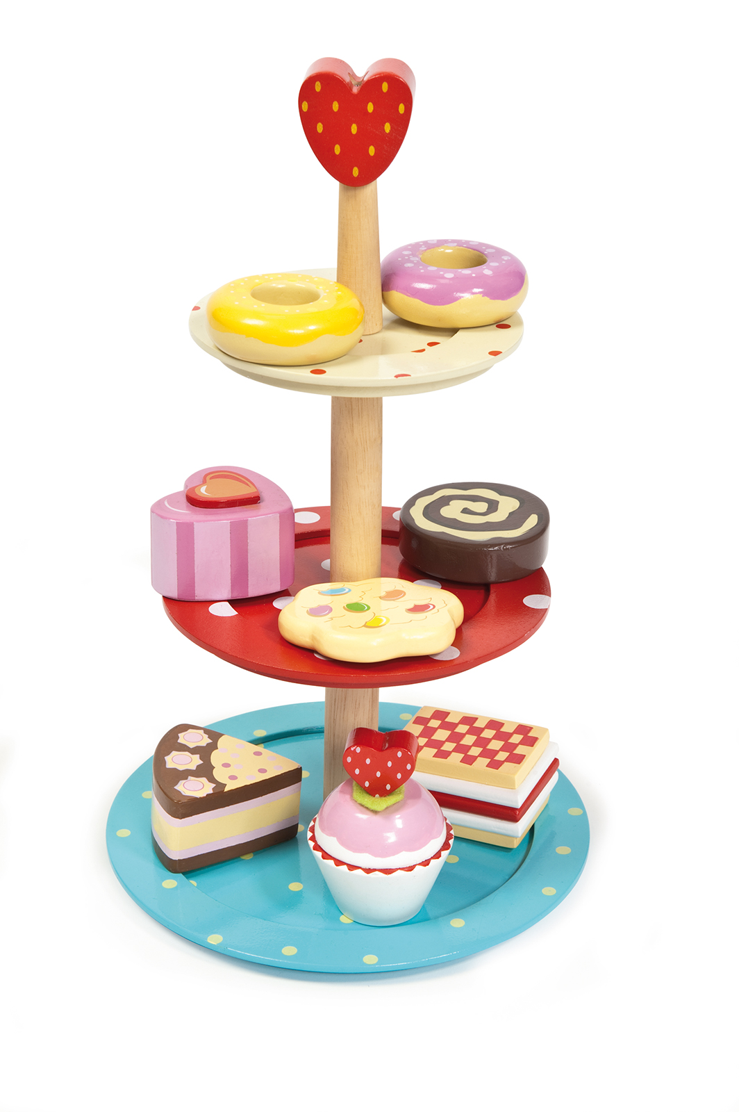 Cake stand set wild woodland toys for Kitchen set cake
