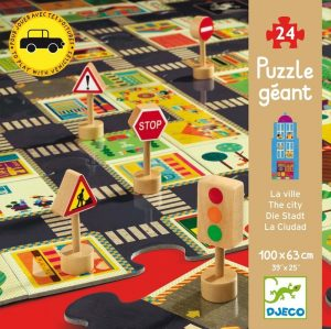 Djeco City Road Floor Puzzle