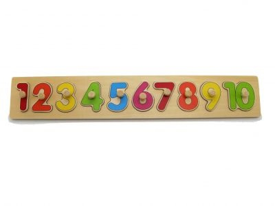 Wooden Number Peg Puzzle