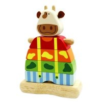 I'm Toy Wooden Stacking Cow