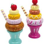 Wooden Stacking Pastel Icecream Sundae