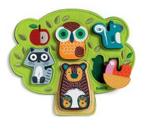 Djeco Wooden/Felt Puzzle Oski