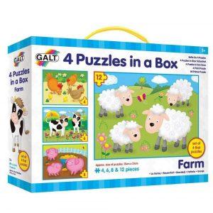 farm galt four puzzles in a box
