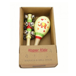 Elephant Maraca and Bell Stick Set