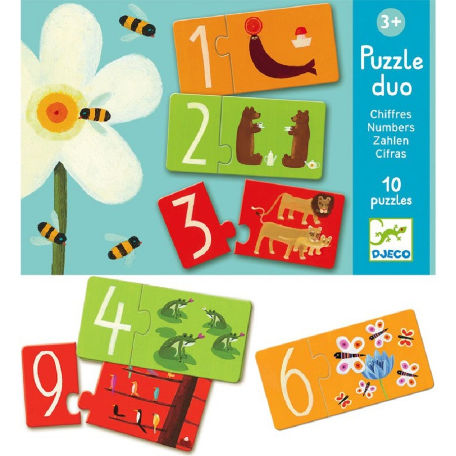 Djeco Duo Puzzle Numbers