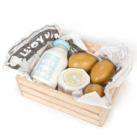 Eggs & Dairy in a Crate