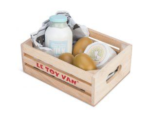 le toy van market crate - eggs & dairy