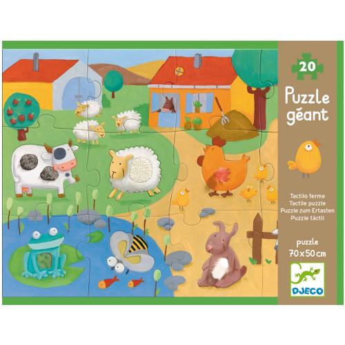Djeco Tactile Farm Puzzle
