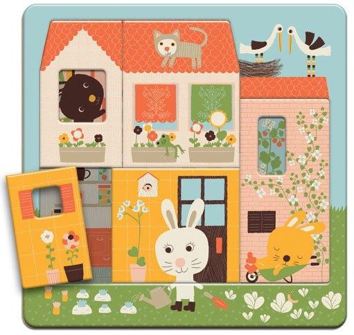 Djeco Wooden Rabbit Puzzle 3 Layer