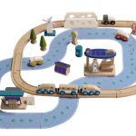 EverEarth Wooden Eco City Train Set
