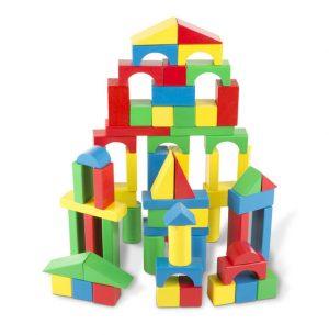 Melissa & Doug 100 Piece Wooden Block Set