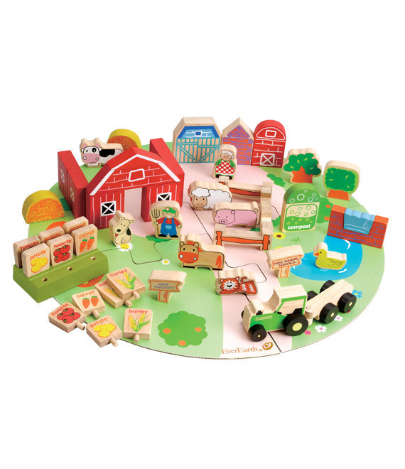 53 piece farm play set