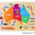Australia Map Wooden Jigsaw Puzzle
