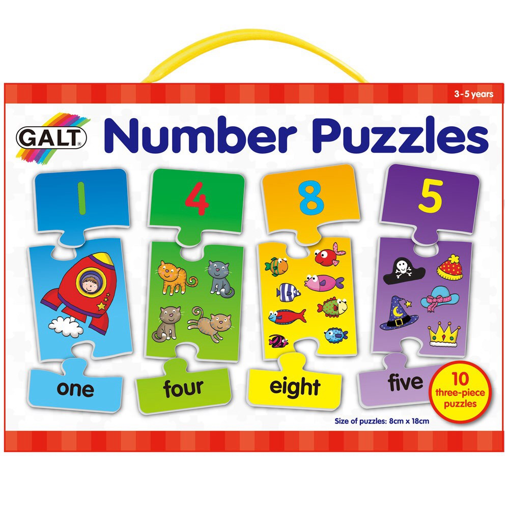 Galt 3 Piece Number Puzzles