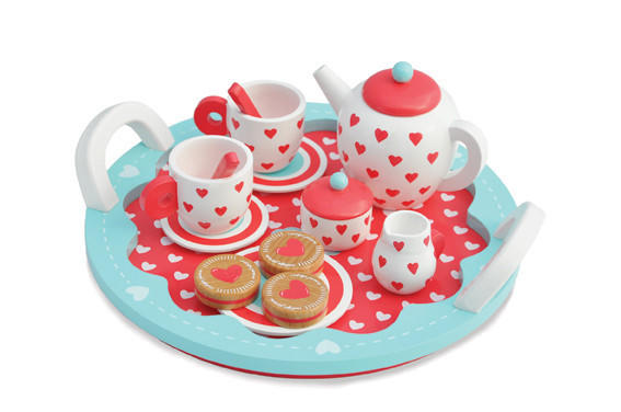 Indigo Jamm Hearts Tea Set