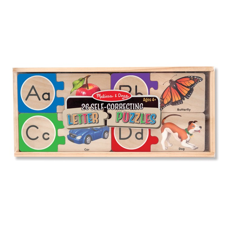 Melissa & Doug Alphabet Wooden Puzzle Cards