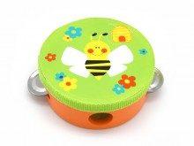 Green Bee Design Tambourine