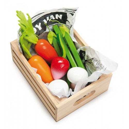 le toy van market crate - harvest vegetables
