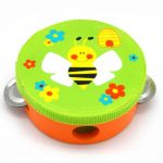 Green Bee Design Tambourine