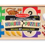 Melissa & Doug Number Wooden Puzzle Cards