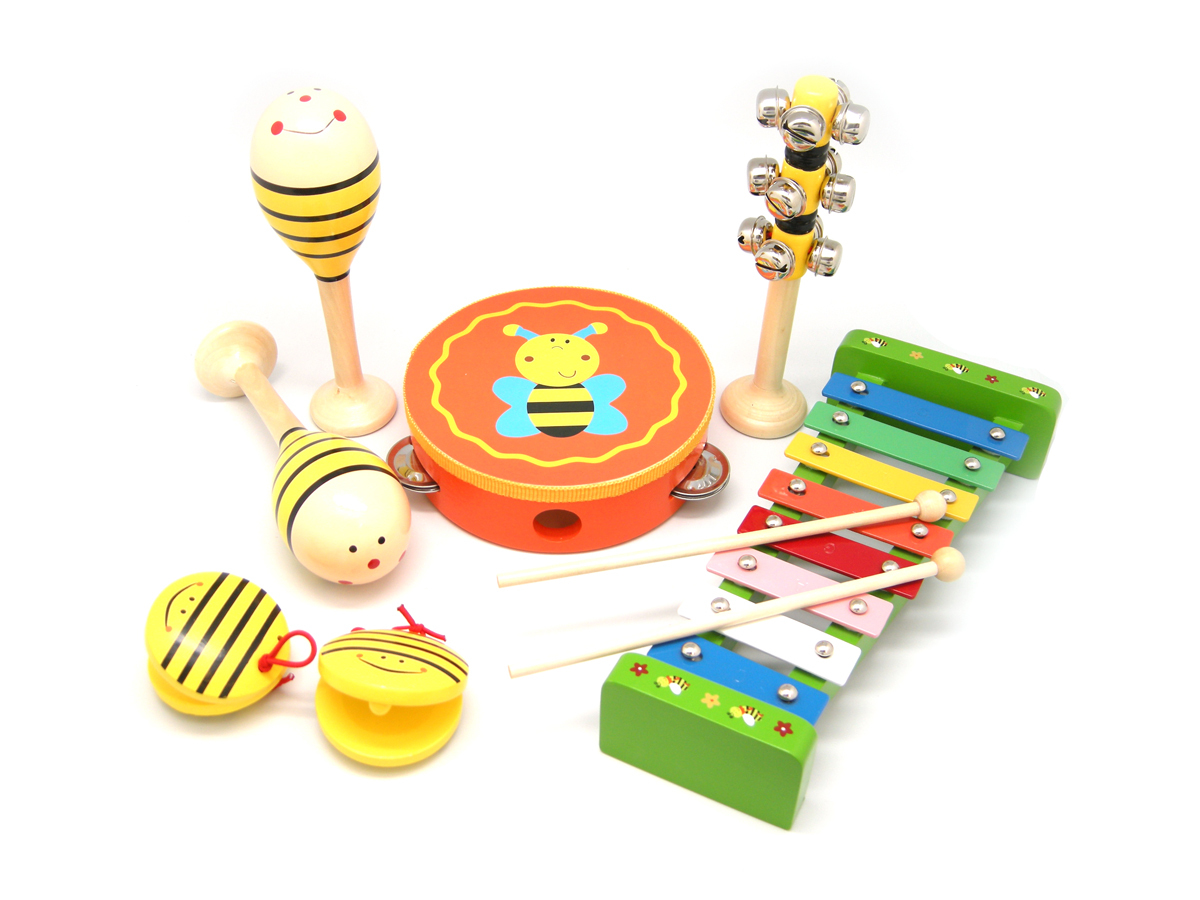 Bee 7 Piece Wooden Musical Set
