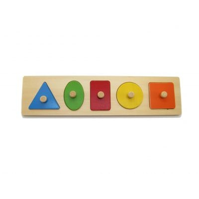 Geometry Shapes Wooden Puzzle with Knobs