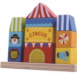 Tooky Toy Wooden Stacking Circus Block Tower