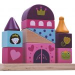 Tooky Toy Wooden Stacking Castle Block Tower