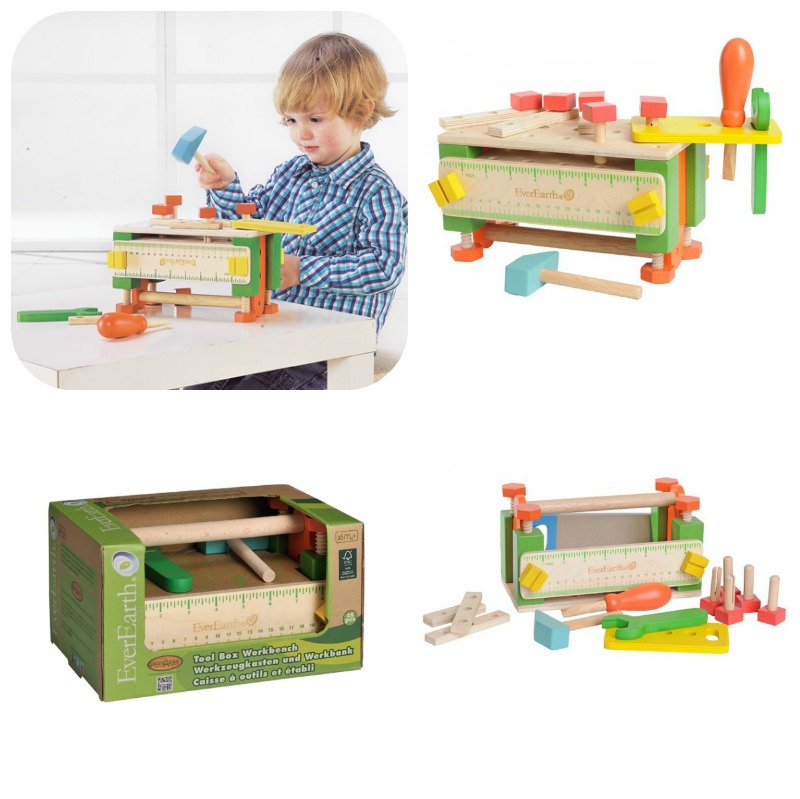 Everearth Tool Box Work Bench Wild Woodland Toys