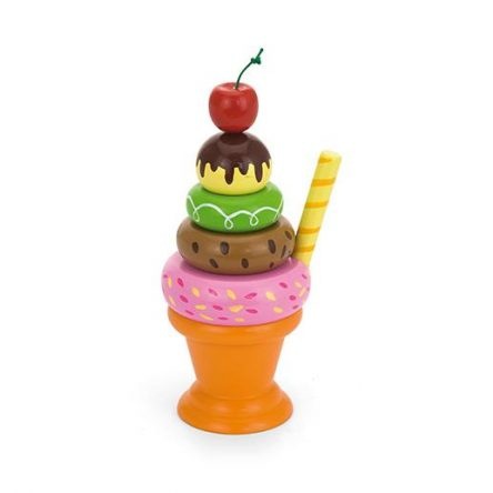 Wooden Stacking Icecream Sundae