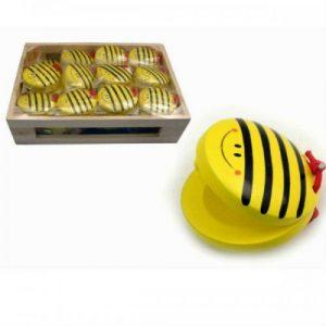 Wooden Castanet Bee Design