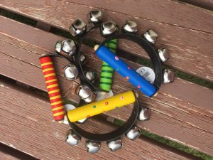 coloured handle bell rings
