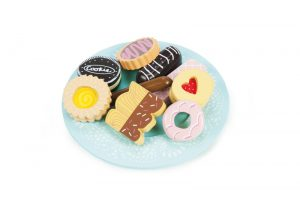 le toy van biscuit plate set
