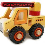 Kaper Kidz Wooden Crane Rubber Wheels