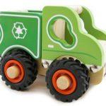 Kaper Kidz Wooden Recycle Truck Rubber Wheels