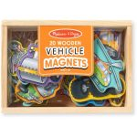 Set of 20 Wooden Vehicle Magnets