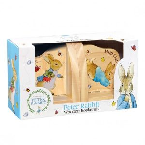 Peter Rabbit Natural Wooden Bookends