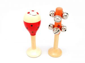 Small Maraca Ladybug and Jingle Stick Set