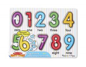 See Inside Melissa & Doug Numbers Peg Puzzle
