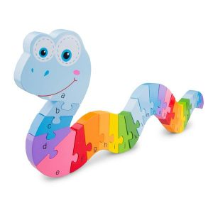 Alphabet Rainbow Serpent Puzzle