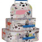 Set of 3 Farm Suitcases JAF227G