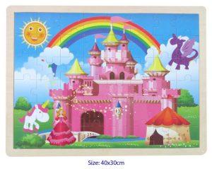 pink fairy castle jigsaw puzzle