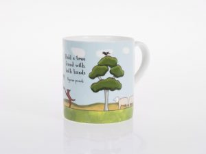 red tractor designs bone china cup