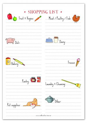 Red Tractor Designs Magnetic Shopping List