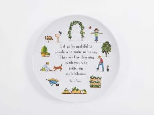 red tractor designs large garden plate