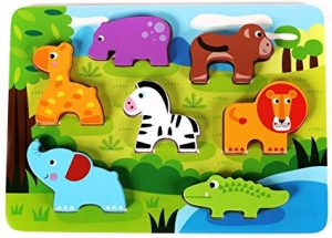 chunky wooden animal puzzle